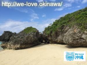 池間島ハート岩
