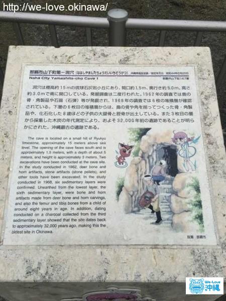 山下町第一洞穴遺跡説明