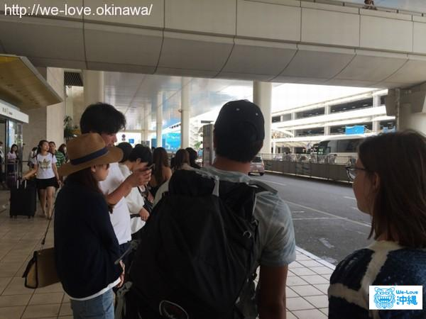 空港バス待ち