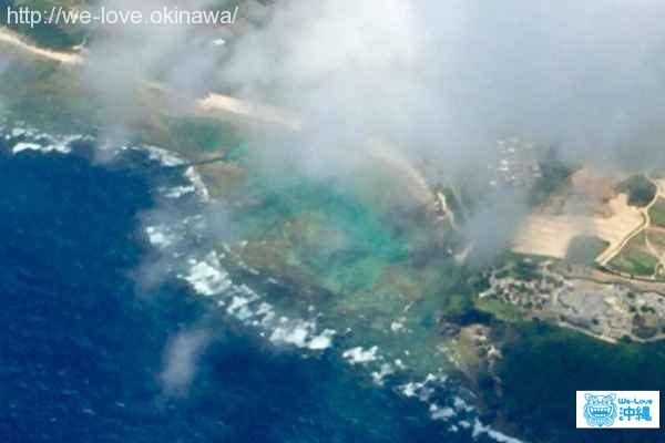 空から見たジョン万ビーチ