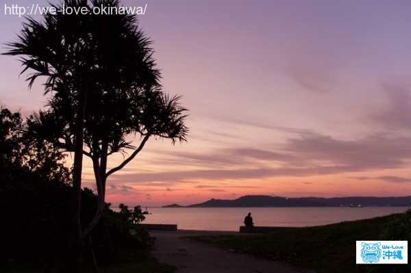 nishihara-kirakira-beach-sunset