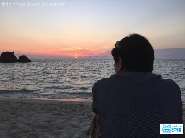 araha-beach-sunset
