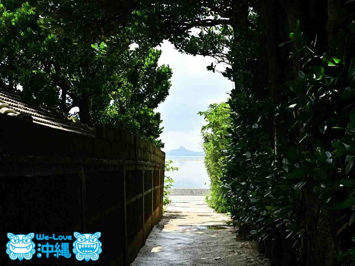 伊江島がのぞく風景