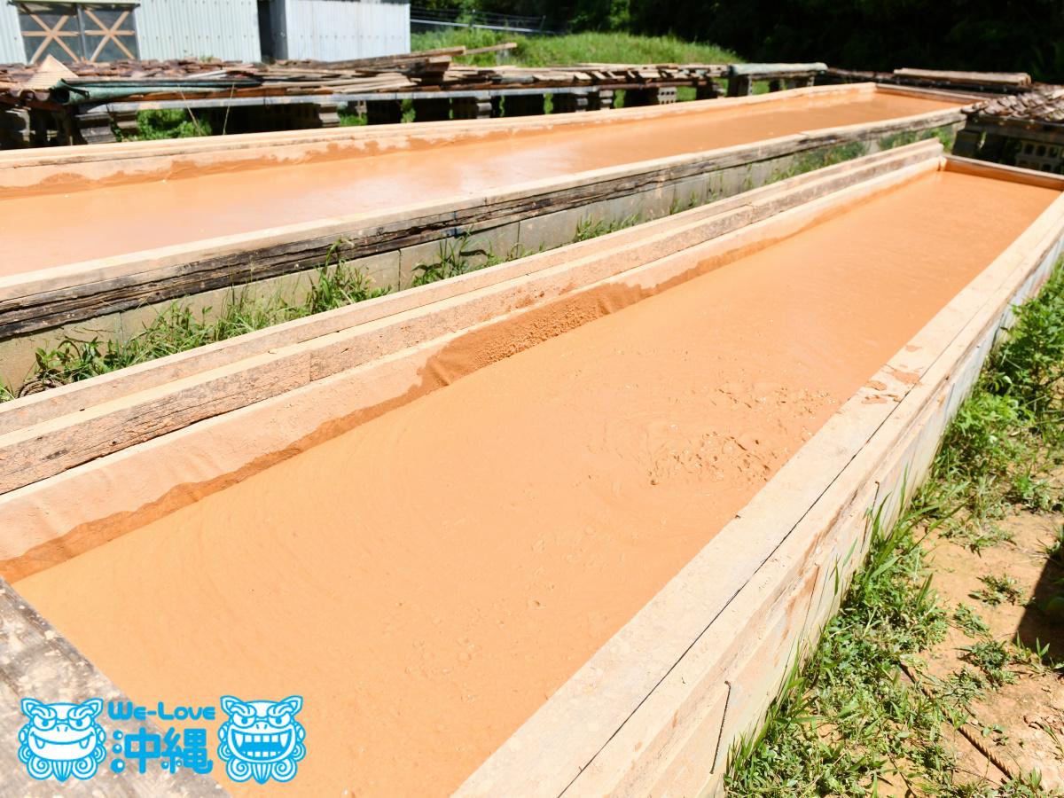 土を乾燥用させる槽