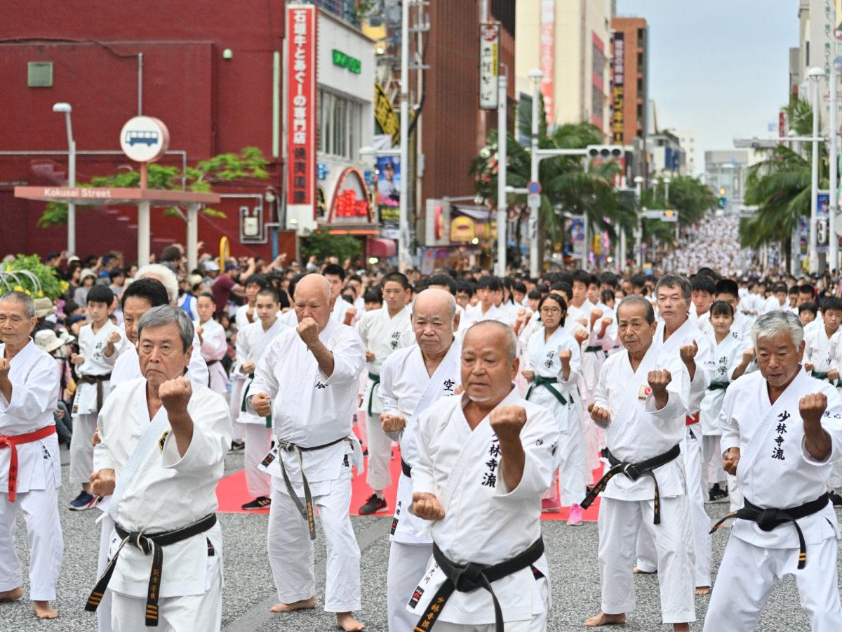 2019空手の日記念演武祭、一斉演武