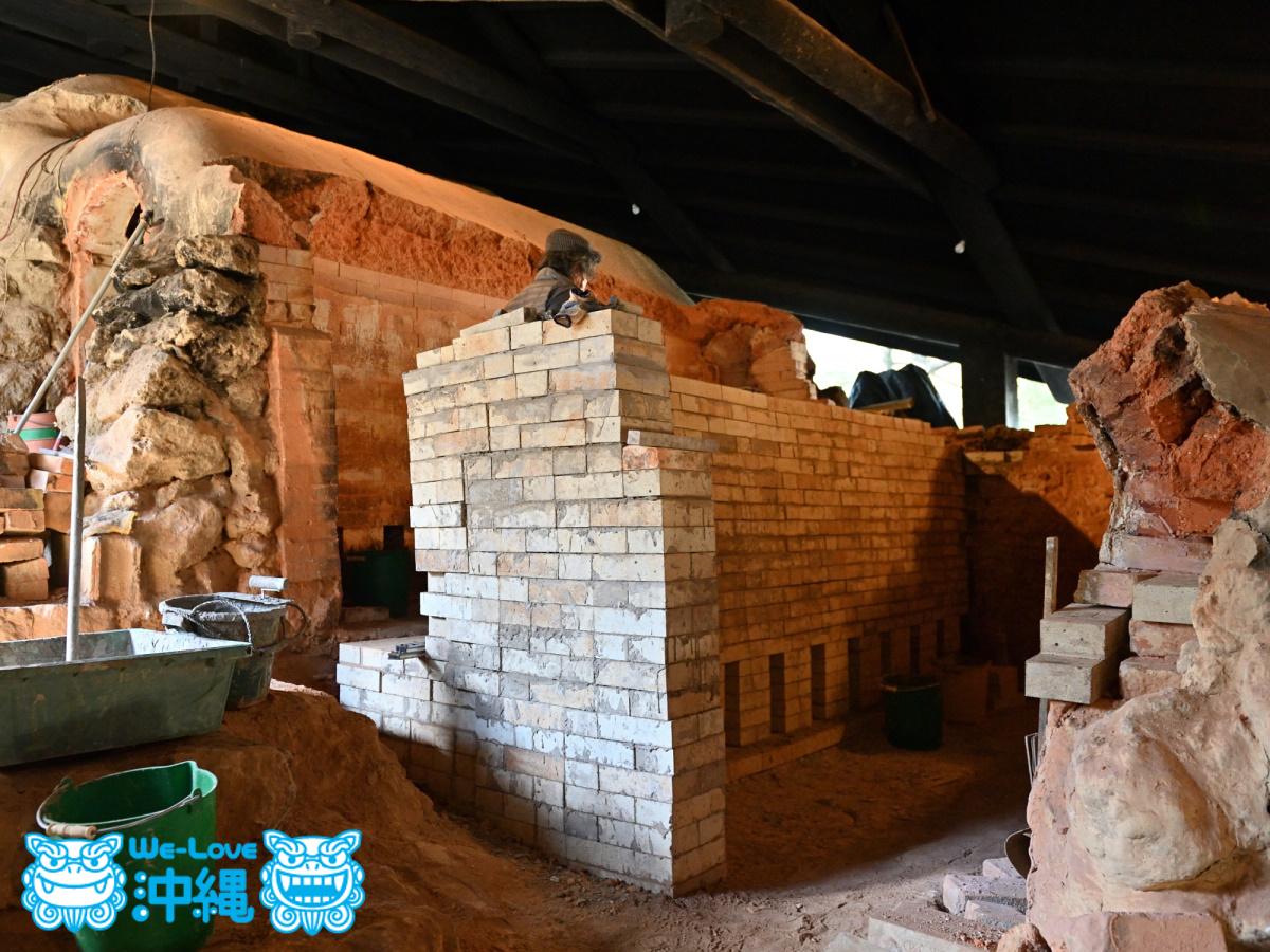 北窯壁作り_22_壁が少し後方に傾いている