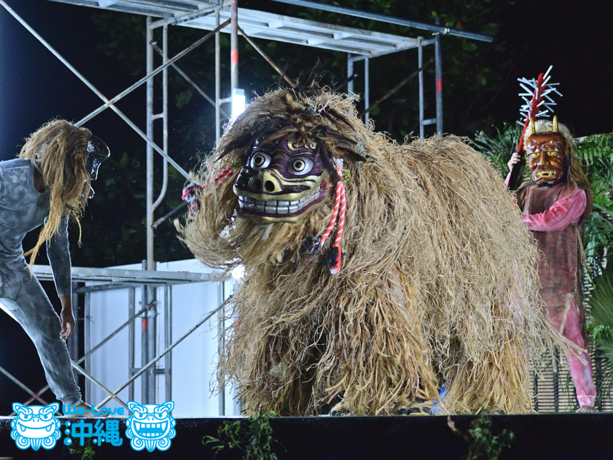 沖縄伝統芸能_獅子舞(奥間集落)獅子舞