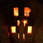 読谷山焼・北窯の登り窯とやちむん作り、窯修理編・フチミと色見穴