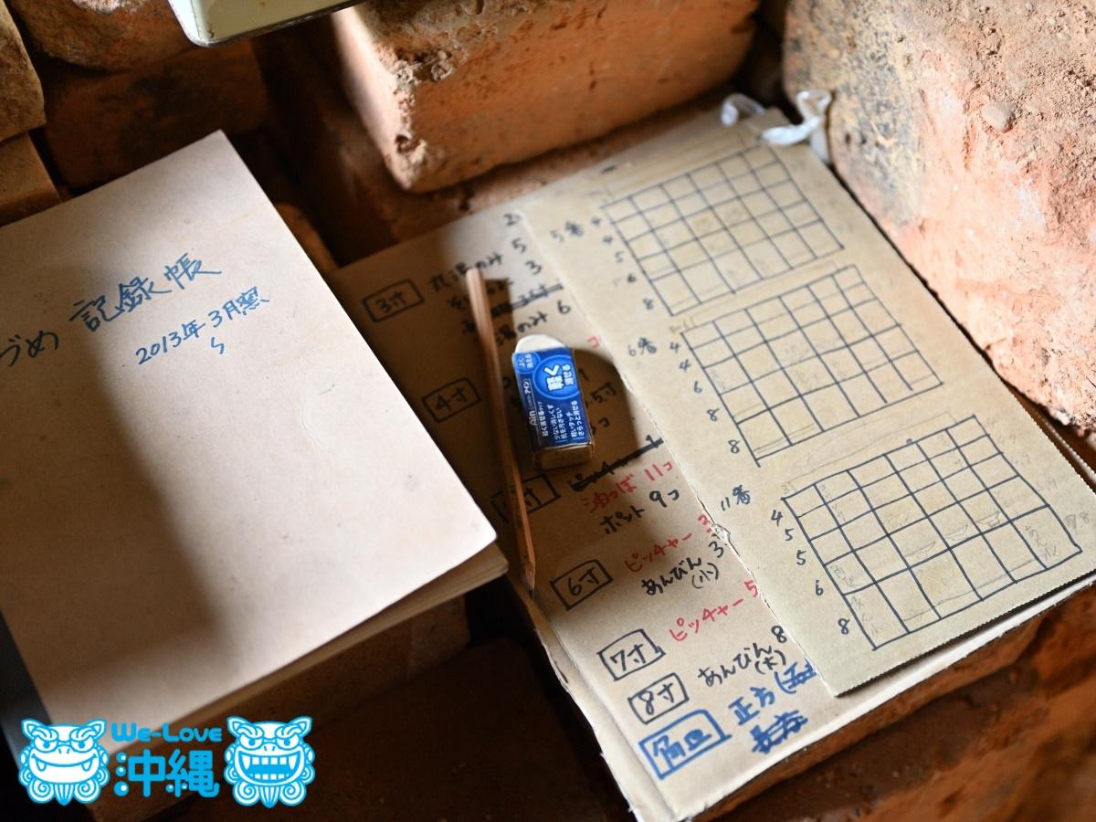 読谷山焼・北窯の登り窯とやちむん作り、窯詰めの記録