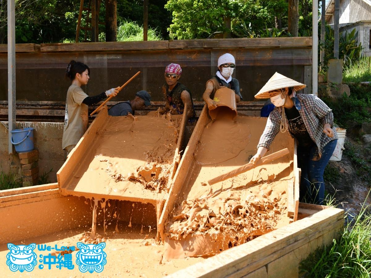 読谷山焼・北窯の登り窯とやちむん作り、土だし、仕上げ