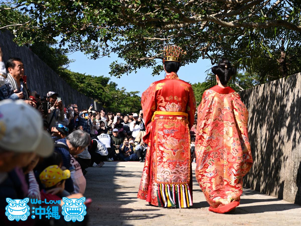 2020年首里城公園 新春の宴、国王・王妃登場