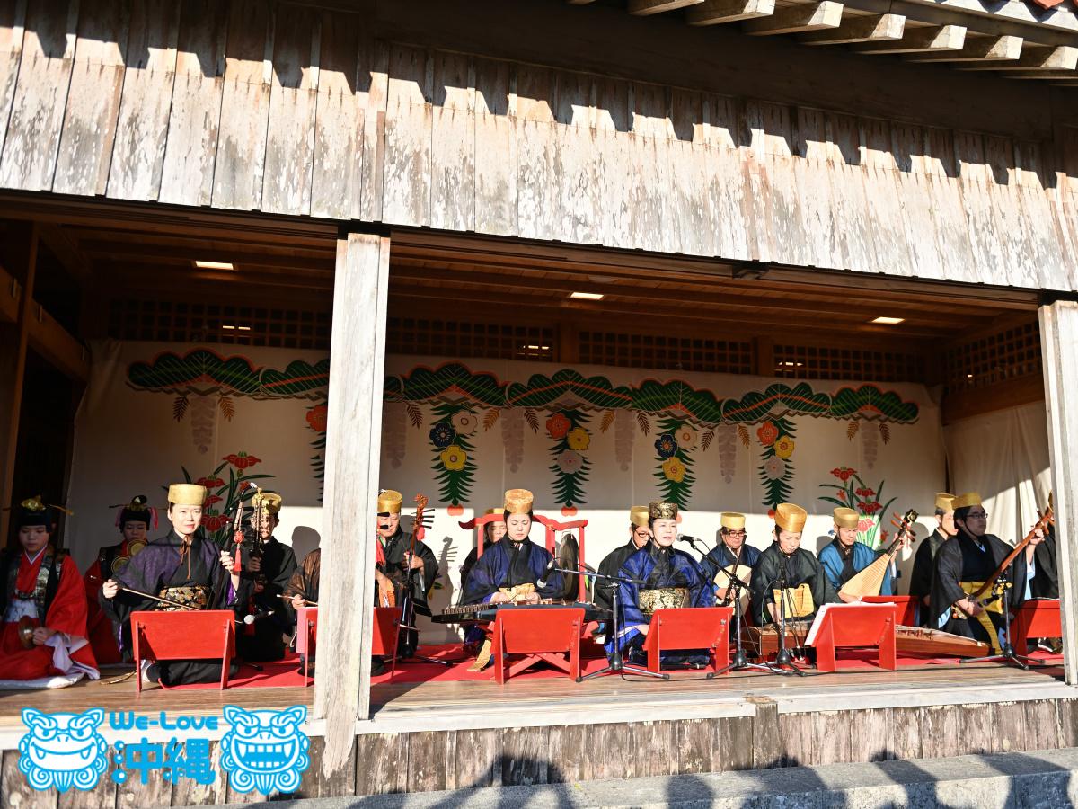 2020年首里城公園 新春の宴、② 御座楽(うざがく)演奏