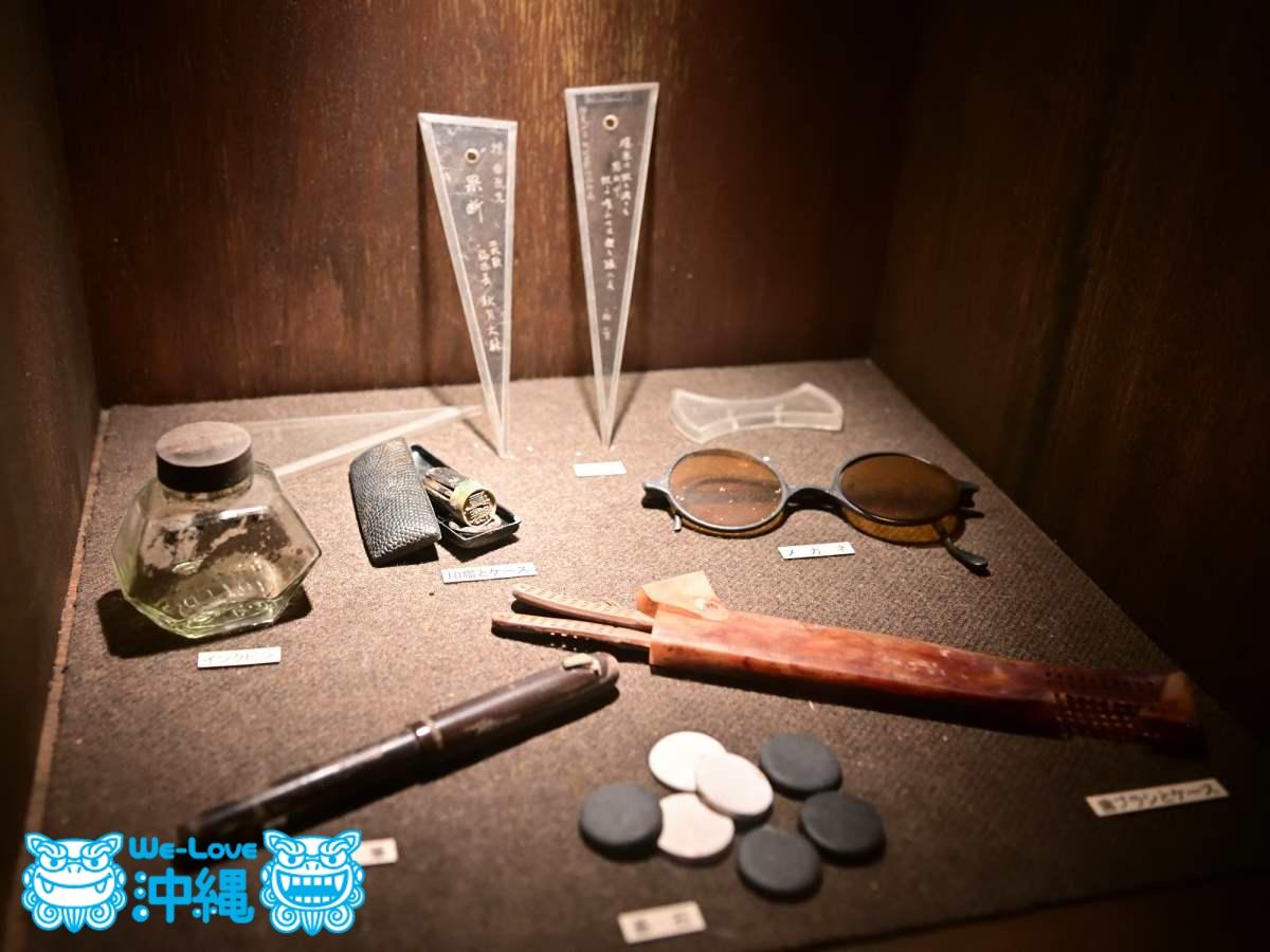 日用品や陶製手榴弾(しゅりゅうだん)、防毒マスク、医薬品の展示